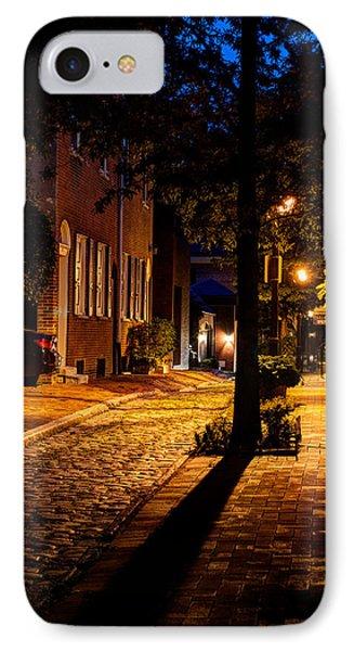 Street In Olde Town Philadelphia IPhone Case by Mark Dodd
