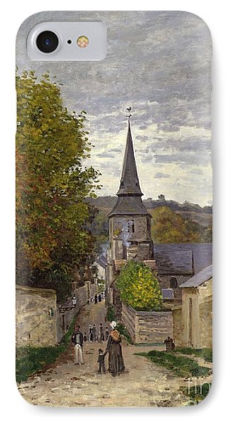Street In Sainte Adresse Phone Case by Claude Monet