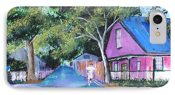 Street In St Augustine IPhone Case by Luis F Rodriguez