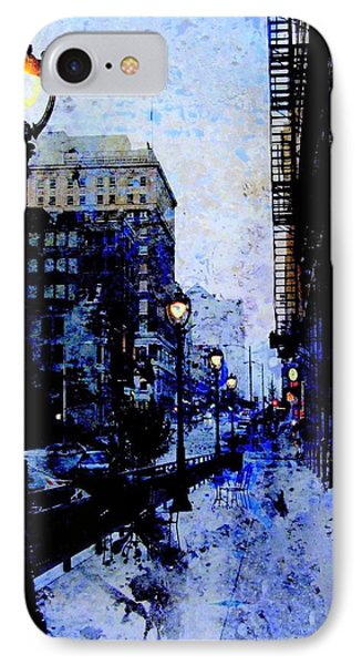 Street Lamps Sidewalk Abstract IPhone Case by Anita Burgermeister
