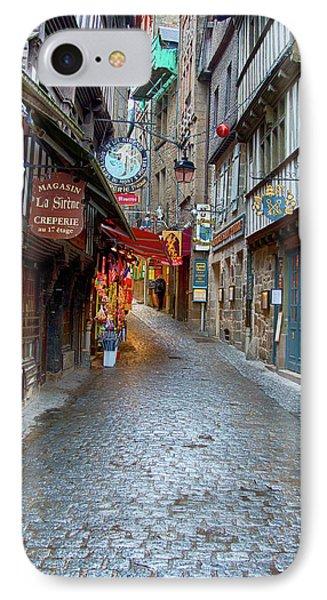 Street Le Mont Saint Michel IPhone Case