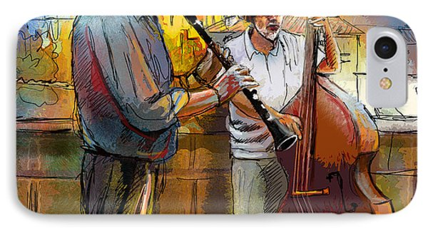 Street Musicians In Prague In The Czech Republic 01 IPhone Case by Miki De Goodaboom