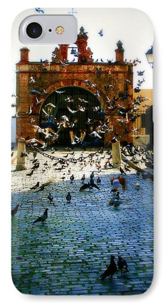 Street Pigeons Phone Case by Perry Webster