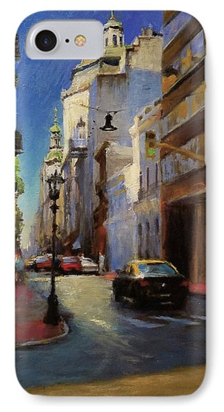 Street Scene In Buenos Aires Phone Case by Peter Salwen