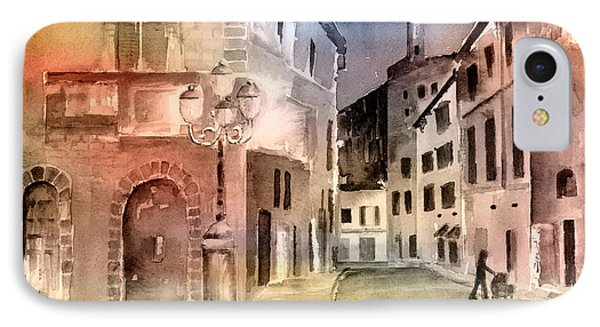 Street Scene In Italy IPhone Case by Arline Wagner