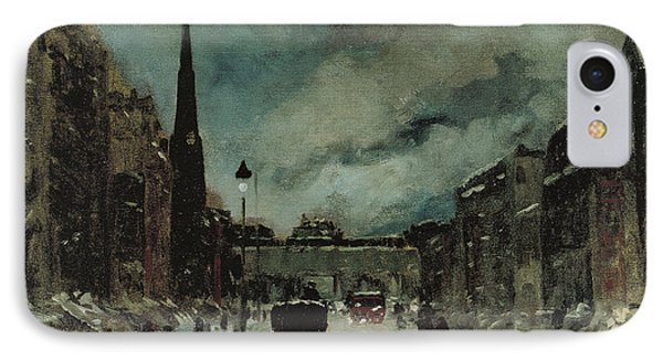 Street Scene With Snow New York City IPhone Case by Robert Henri