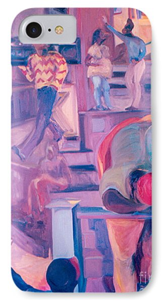 IPhone Case featuring the painting Street Scenes by Daun Soden-Greene