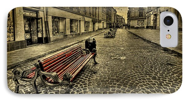 Street Seat Phone Case by Evelina Kremsdorf