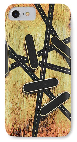 Street Skating Background IPhone Case by Jorgo Photography - Wall Art Gallery