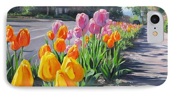 Street Tulips IPhone Case by Karen Ilari