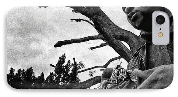 Street Vendor  #man #tree #portrait IPhone Case