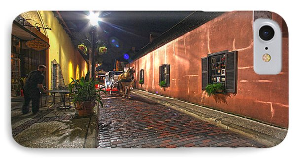 Streets Of St Augustine IPhone Case by Robert Och
