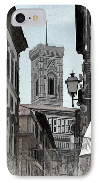 Streetscape In Florence II IPhone Case by Elaine Walsh