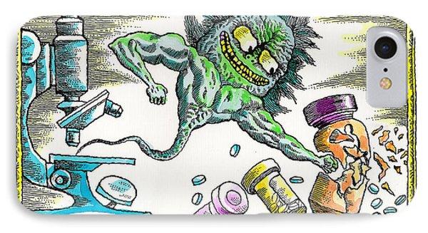 Strength Of The Virus IPhone Case by Leon Zernitsky