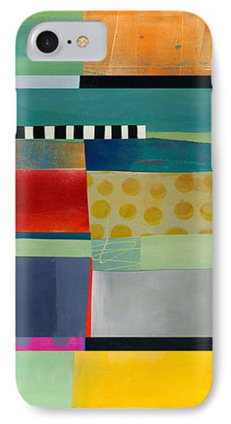 Stripe Assemblage 2 IPhone 7 Case by Jane Davies