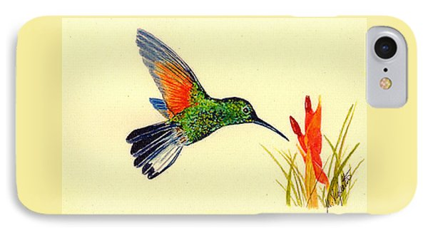 Stripe Tailed Hummingbird Phone Case by Michael Vigliotti