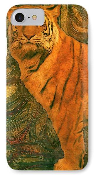 Striped Cat IPhone Case by Jack Zulli