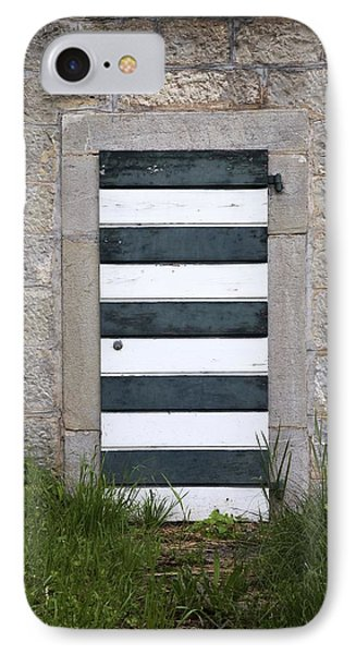 Striped Door IPhone Case by Colleen Williams