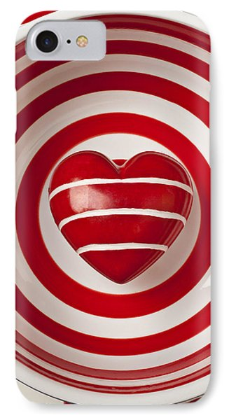 Striped Heart In Bowl Phone Case by Garry Gay