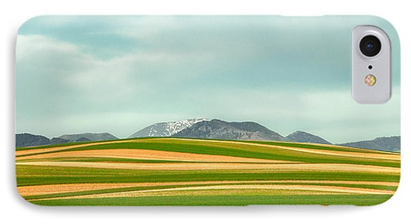 Stripes Of Crops IPhone Case by Todd Klassy