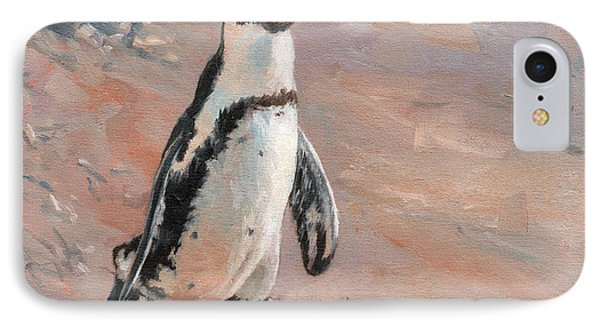 Stroll Along The Beach IPhone 7 Case by David Stribbling