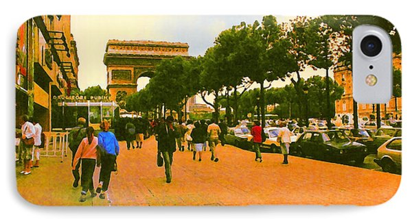 Strollers Along The Champs Elysees IPhone Case