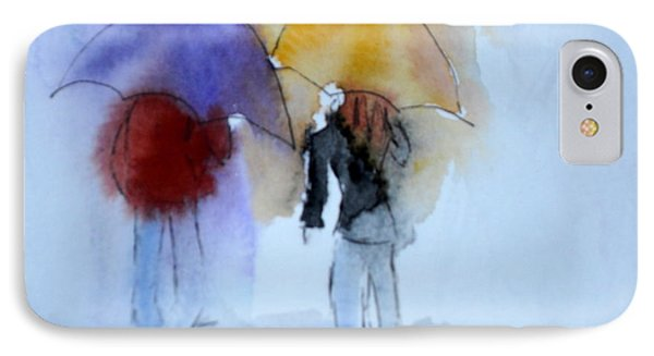 Strolling In The Rain IPhone Case by Vicki  Housel