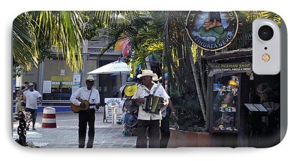 IPhone Case featuring the photograph Strolling Musicians by Jim Walls PhotoArtist