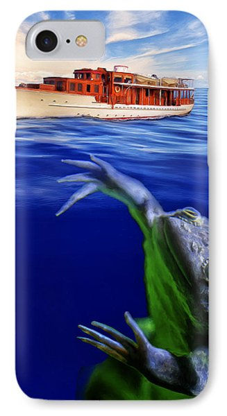 Strong Cross Currents And A Vicious Undertoad IPhone Case by Dominic Piperata