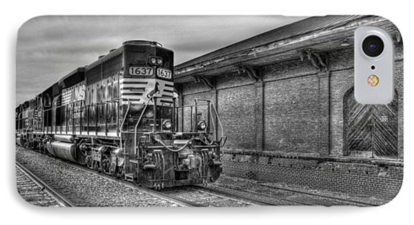 Strong Iron Locomotive 1637 Norfolk Southern IPhone Case by Reid Callaway
