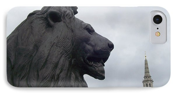Strong Lion Phone Case by Mary Mikawoz