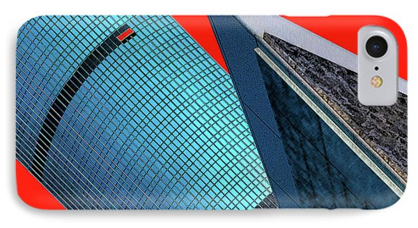 Structures Tilted 2 Phone Case by Bruce Iorio