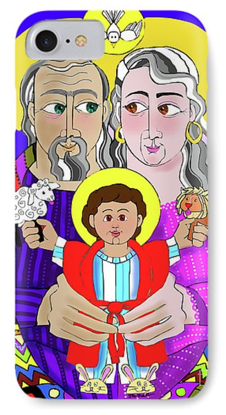 Sts. Ann And Joachim, Grandparents With Jesus - Mmjag IPhone Case
