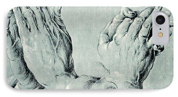 Studies Of Hands IPhone Case by Hans Hoffmann