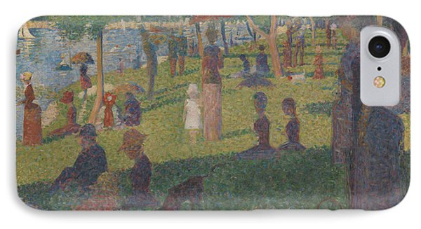 Study For A Sunday On La Grande Jatte, 1884 IPhone Case by Georges Pierre Seurat