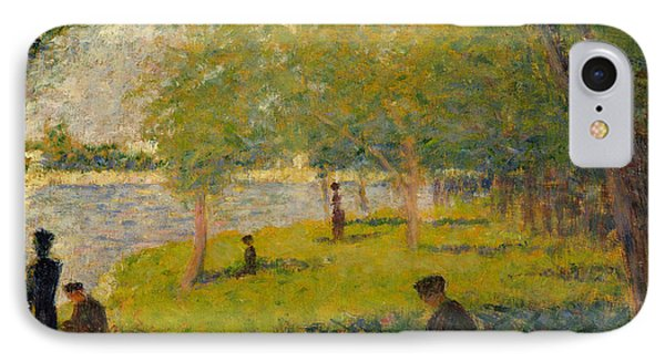 Study For A Sunday On La Grande Jatte IPhone Case by Georges-Pierre Seurat