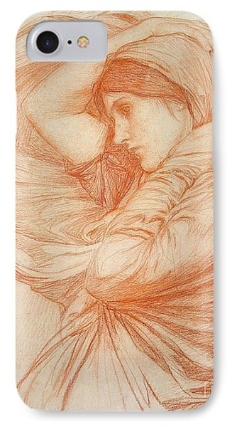 Study For Boreas Phone Case by John William Waterhouse