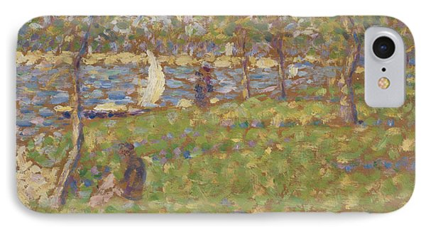 Study For La Grande Jatte IPhone Case by Georges Pierre Seurat