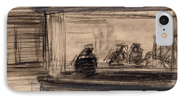 Study For Nighthawks IPhone Case by Edward Hopper