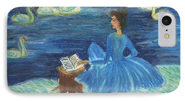 Study For Swan Lake Reader Phone Case by Sushila Burgess