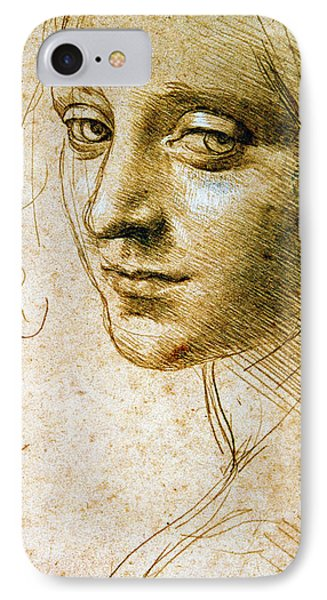 Study For The Angel Of The Virgin Of The Rocks IPhone Case