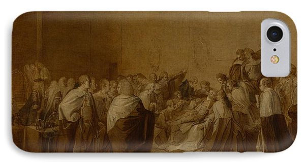 Study For The Collapse Of The Earl Of Chatham IPhone Case by John Singleton