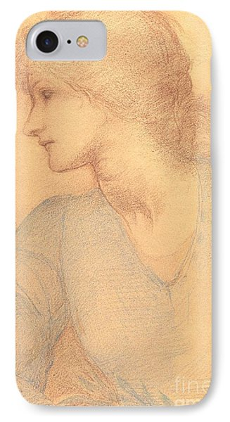 Study In Colored Chalk Phone Case by Sir Edward Burne-Jones
