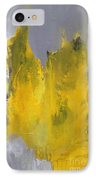 Study In Yellow And Grey IPhone Case