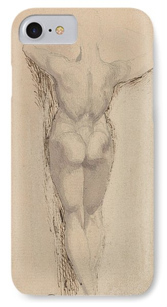 Study Of A Back Of A Female Nude Standing IPhone Case by Henry Fuseli