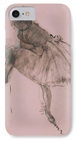 Study Of A Ballet Dancer IPhone Case by Edgar Degas