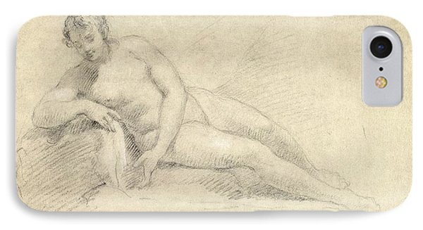 Study Of A Female Nude  Phone Case by William Hogarth