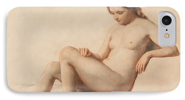Study Of A Nude IPhone Case by William Mulready