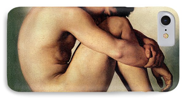 Study Of A Nude Young Man, 1836  IPhone Case