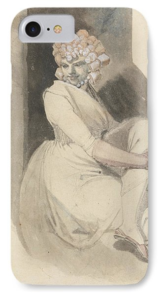 Study Of A Seated Woman IPhone Case by Henry Fuseli